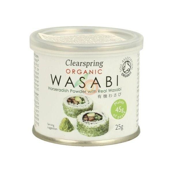 Wasabi polvo lata organico 25 gramos clearspring