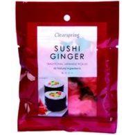 Sushi ginger pickle de jengibre organico 105 gramos  clearspring