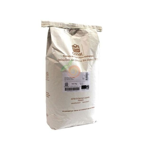 Harina de trigo blanca bio 5 kg celnat