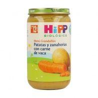 Potitos de patatas y zanahorias con carne 12 meses hipp