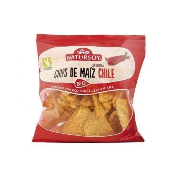 Chips de maiz chili bio 75 gramos natursoy