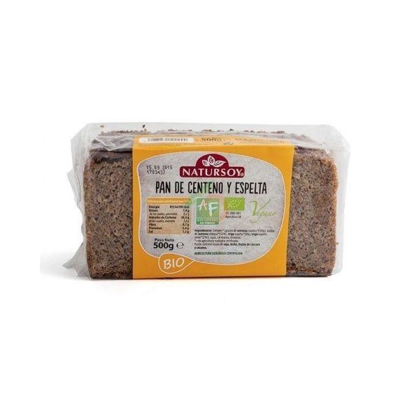 Pan de centeno y espelta 500 gramos natursoy