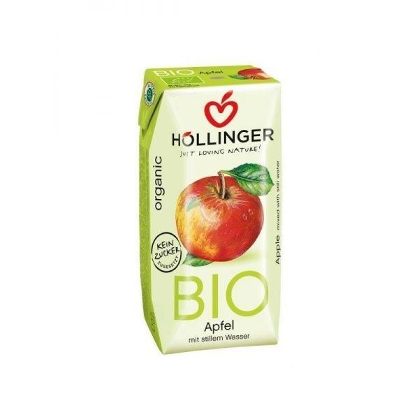 Zumo de manzana bio sin azucar 3 x 200 ml hollinger