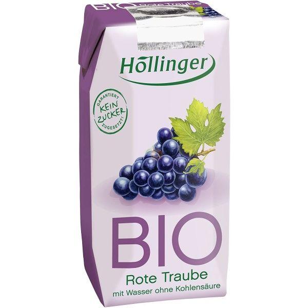 Zumo uva roja bio sin azucar 3 x 200 ml hollinger