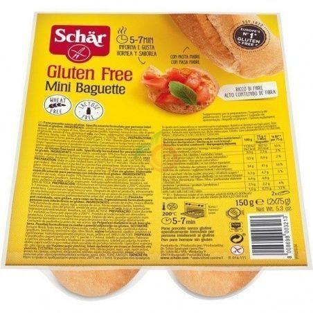Mini baguette sin gluten 150 gramos dr schar