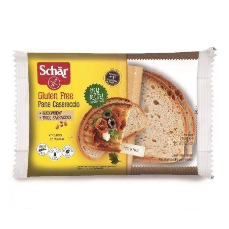 Pan casereccio con semillas de chia, lino y girasol 250 gramos dr. schar