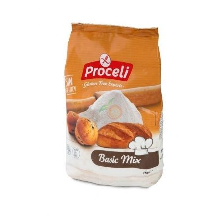 Preparado panificable basic mix sin gluten 1 kg proceli
