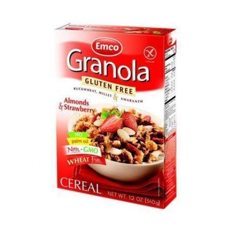 Granola muesli con fresas y almendras sin gluten 340 gramos emco