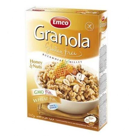 Granola muesli con miel y nueces sin gluten 340 gramos emco