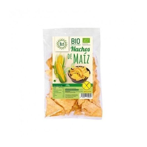 Nachos de maiz sin gluten bio 125 gramos solnatural