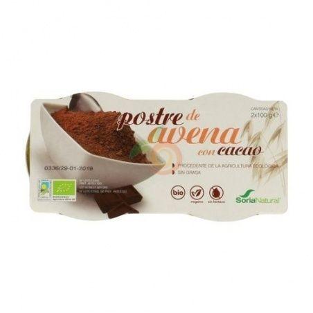 Postre de avena con cacao soria natural