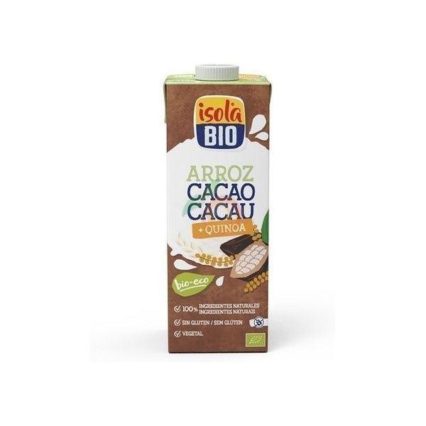 Bebida vegetal arroz quinoa y cacao 1 litro isola bio