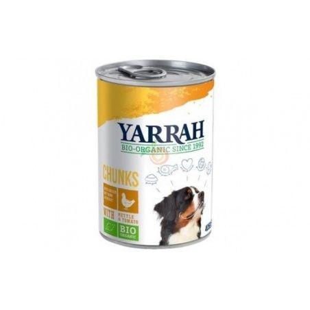 Comida para perros con trozos de pollo 400 gramos yarrah