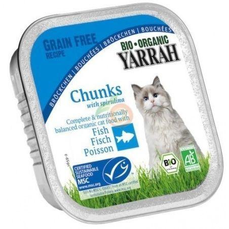 Tarrina  para gatos con caballa bio 100 gramos yarrah