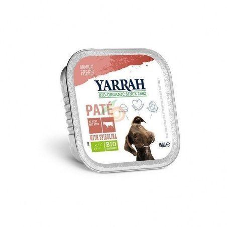 Tarrina para perros con ternera y espirulina bio 150 gramos yarrah