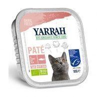 Tarrina para gatos con salmon y algas bio 100 gramos yarrah