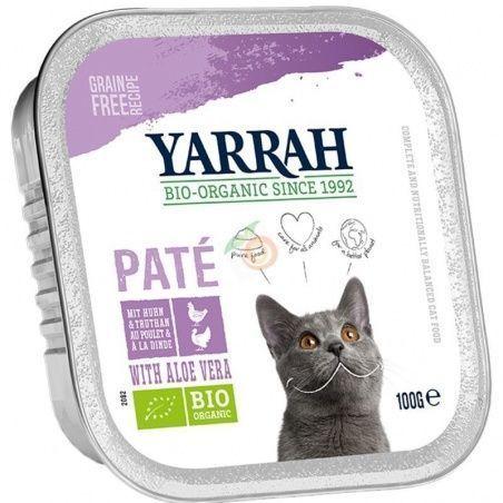 Tarrina para gatos con pavo bio 100 gramos yarrah