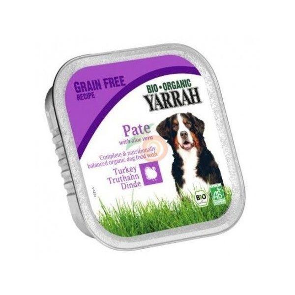 Tarrina para perros de pavo y aloe vera bio 150 gramos yarrah