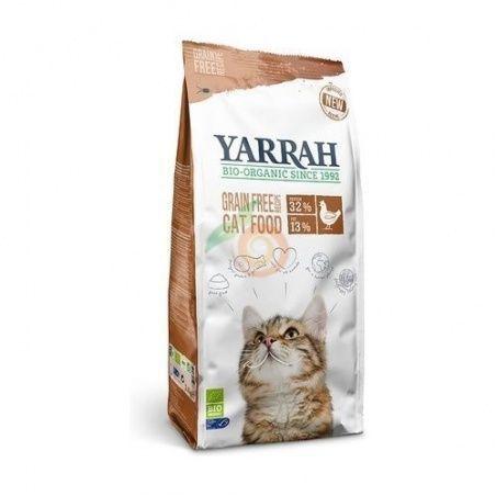 Pienso de pescado y pollo sin cereales para gatos 2,4 kg yarrah