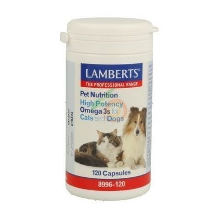 Pet nutrition omega 3 alta potencia gatos y perros lamberts