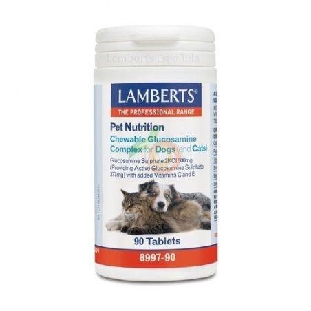 Pet nutrition complejo glucosamina perros y gatos lamberts