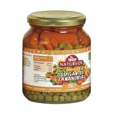 Guisantes con zanahorias bio 350 ml natursoy
