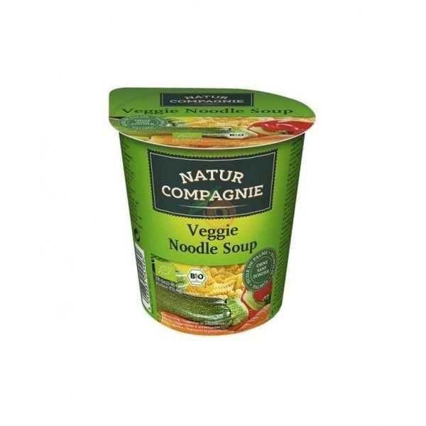 Sopa instantánea veggie noodles con verduras bio 50 gramos natur compagnie