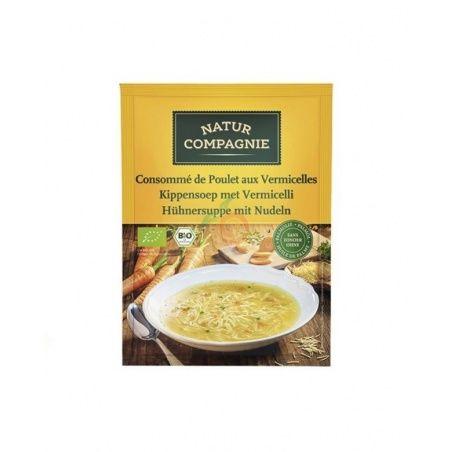 Sopa instantanea asia noodles con pollo bio 55 gramos natur compagnie