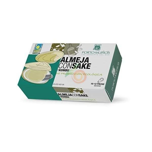 Almejas con sake y kombu ecologicas porto muiños