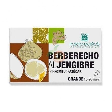 Berberechos al jengibre con kombu de azucar eco porto muiños