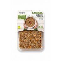 Lentejas con quinoa y verduritas vegano 220 gramos trevijano