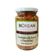 Lentejas con arroz y zanahoria 220 gramos biosan