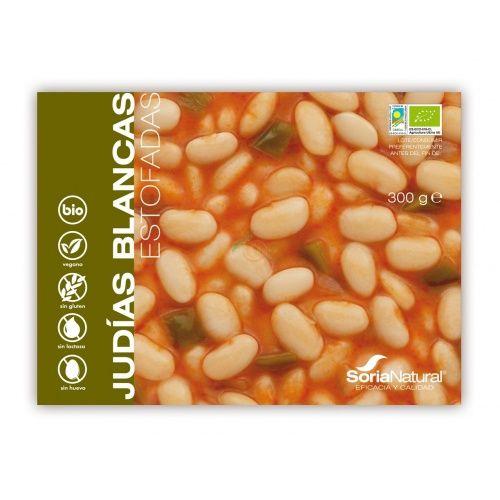 Judias blancas estofadas bio 300 gramos soria natural