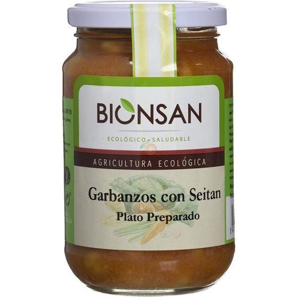 Garbanzos cocidos seitán 342 gramos biosan