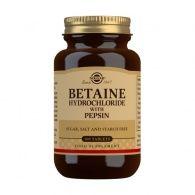 Betaína clorhidrato con pepsina 100 comprimidos solgar
