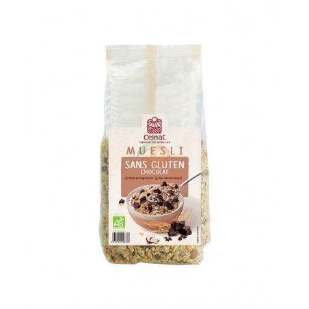 Muesli crunchy chocolate negro bio 500 gramos celnat