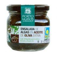 Ensalada de algas en aceite de oliva eco 160 gramos porto muiños