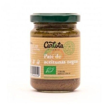 Paté de aceitunas negras bio 140 gramos carlota organic