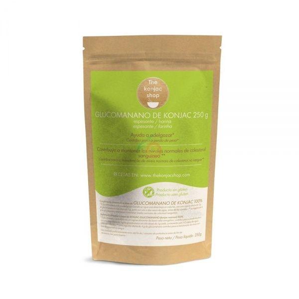 Harina de glucomanano 250 gramos the konjac shop