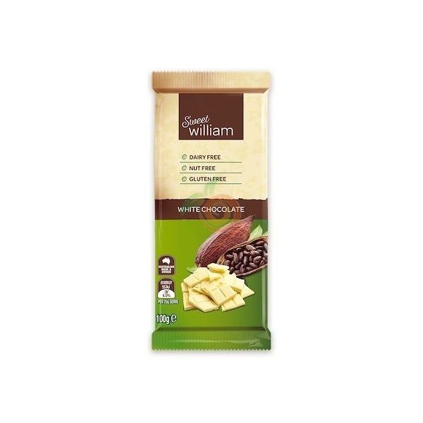 Chocolate blanco dairy free sweet williams