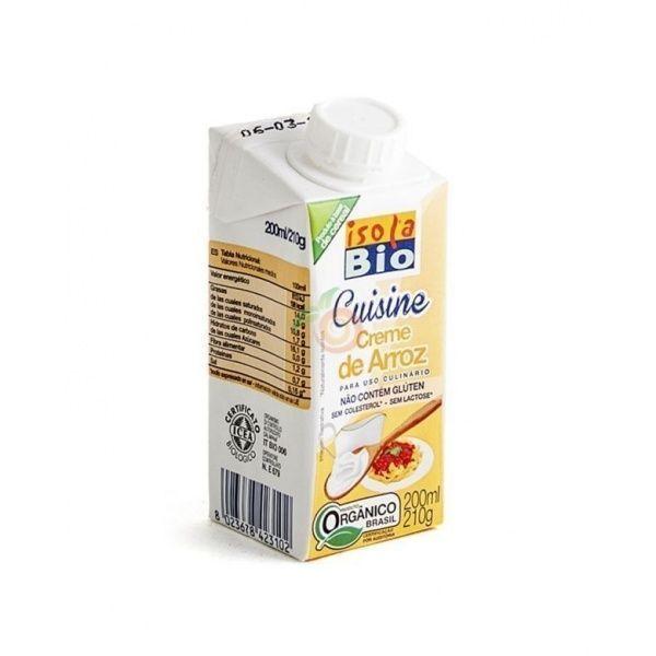 Crema leche de arroz para cocinar 200 ml isola bio