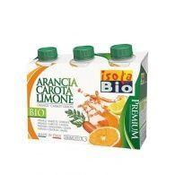Zumo de naranja zanahoria y limón con agave 3 x 200 ml isola bio