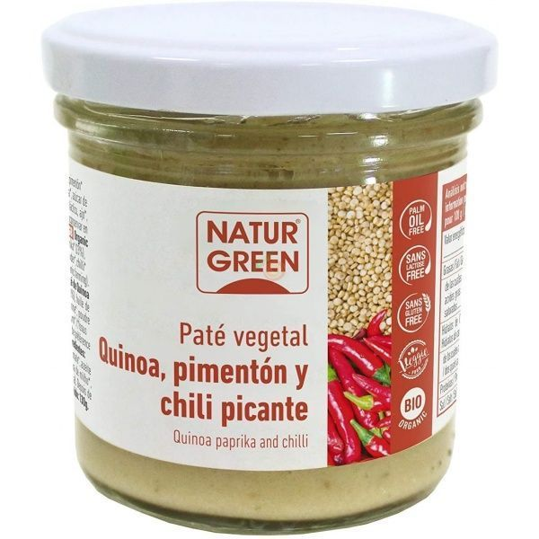 Paté de quinoa, pimenton y chili bio 130 gramos naturgeen