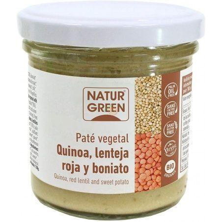 Paté de quinoa con lenteja roja y boniato bio 130 gramos naturgreen