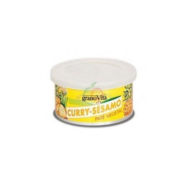 Paté curry y sésamo bio lata 125 gramos granovita