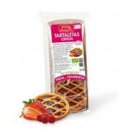 Tartaletas de espelta fresa y frambruesa espiga bio