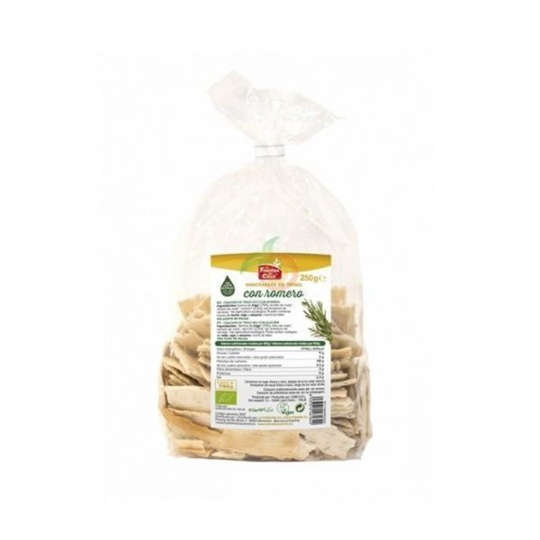 Mini crackers de trigo con romero eco 250 gramos la finestra