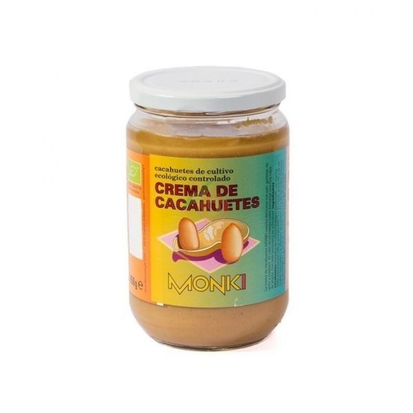 Crema cacahuetes 650 gramos monki