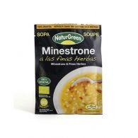 Sobre de sopa minestrone a las finas hierbas bio 40 gramos naturgreen