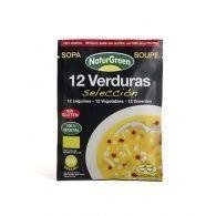 Sopa de 12 verduras selección bio 40 gramos naturgreen